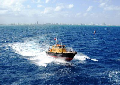 pilot boat in waves